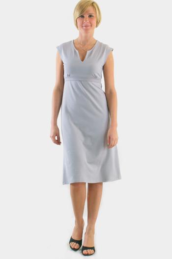 Платье с пояском серое.  Вернуться в прайс-лист.